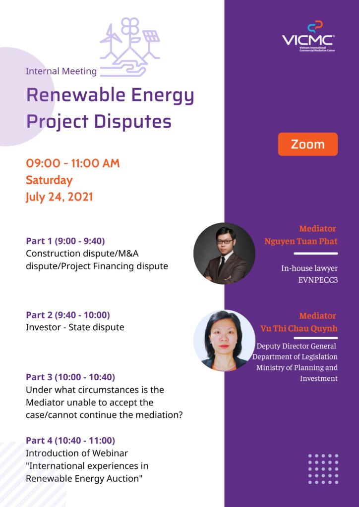 "Internal meeting ""Renewable Energy Project Disputes"""
